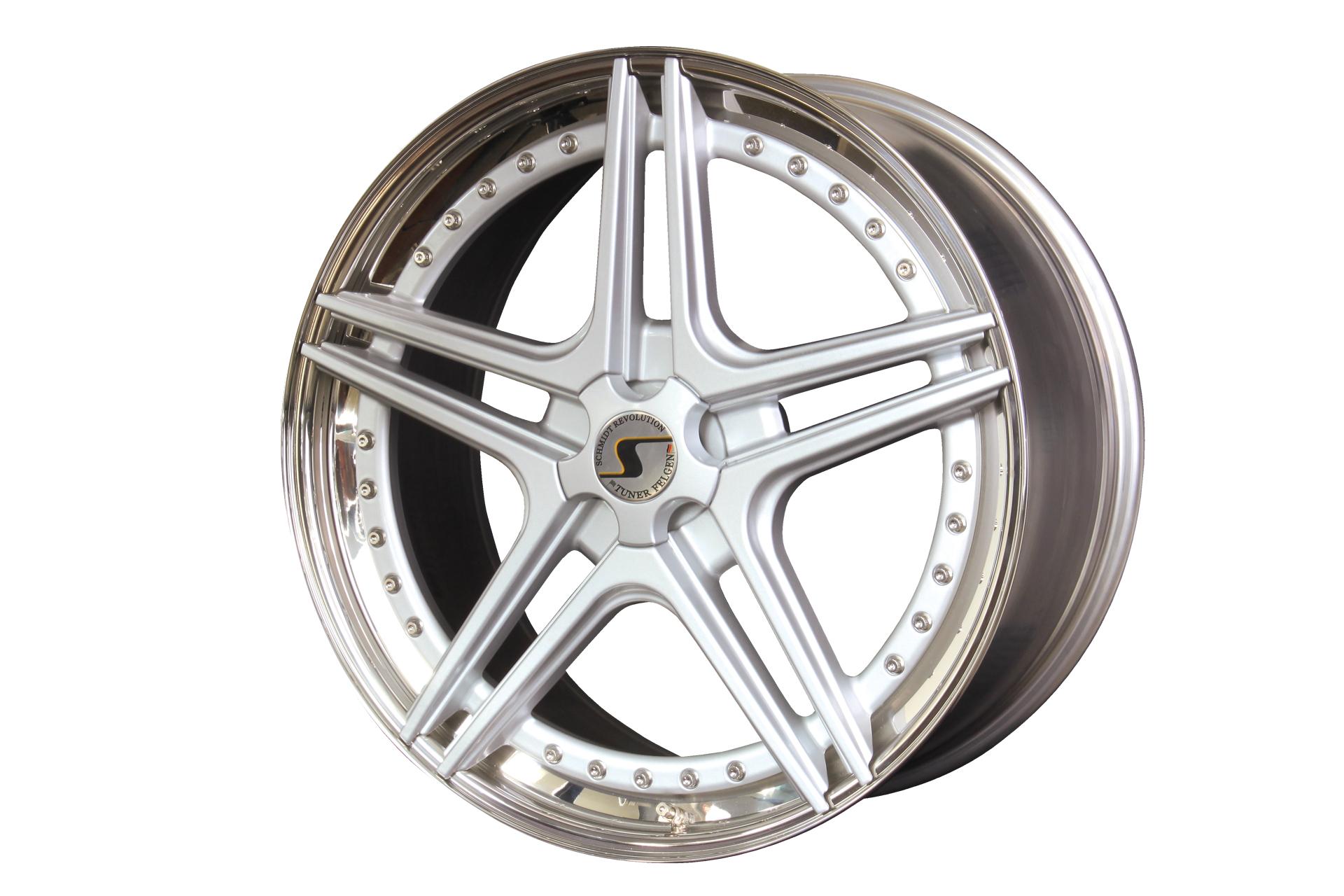 SCHMIDT HS-Line hliníkové disky 10,5x21 5x120 ET46 Highgloss Silber