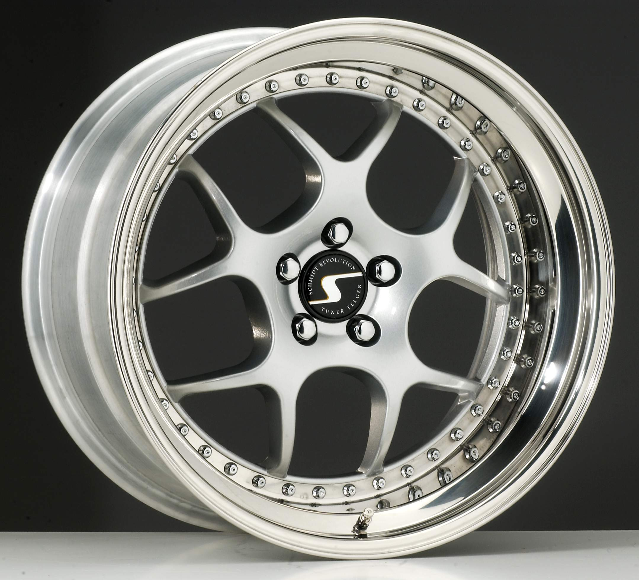 SCHMIDT VN-Line hliníkové disky 9,5x18 5x114,3 ET58 Highgloss Silber